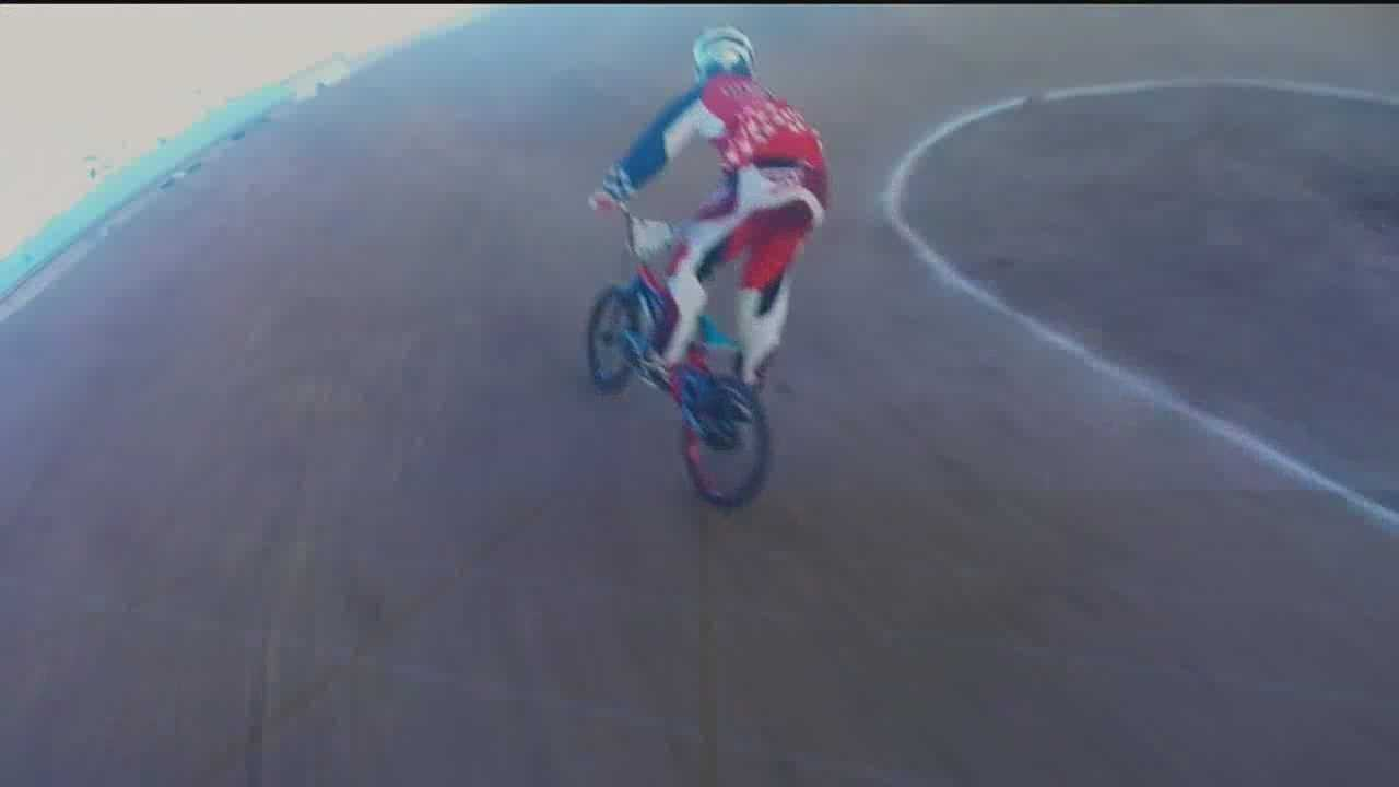 Not far from the Pit and Isotopes park another crowd gathers to compete in BMX.