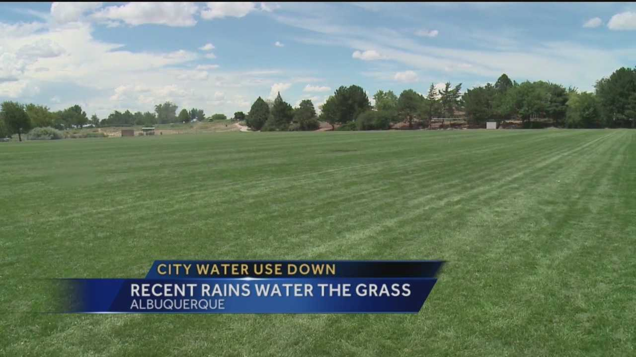 Recent rain has helped the city of Albuquerque cut down on its water use.