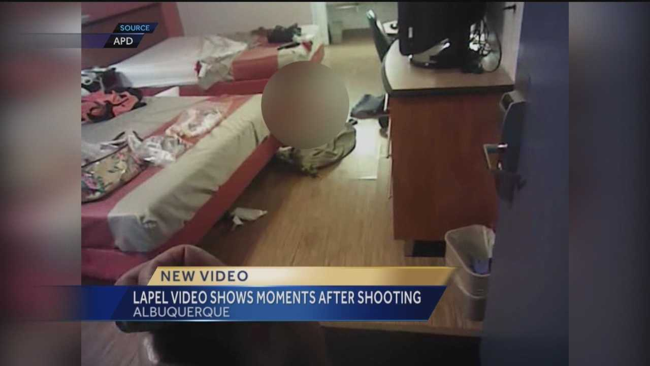 New video shows the moments right after a man was killed at an Albuquerque motel.