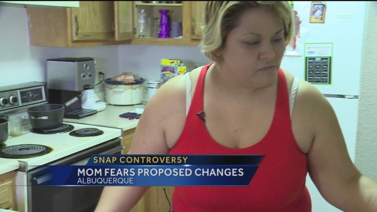 We talk to a mother who be affected by changes to SNAP.