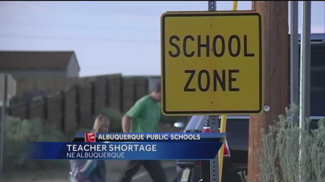 Once again, Albuquerque Public Schools is facing a teacher shortage with the school year just around the corner.