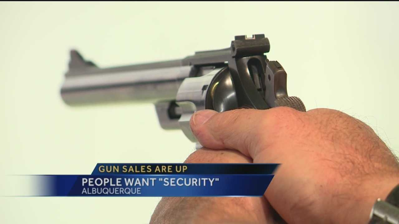 Gun sales spiked in May, but are still going strong. Staff at one local store say customers are saying they want a gun to feel more secure.