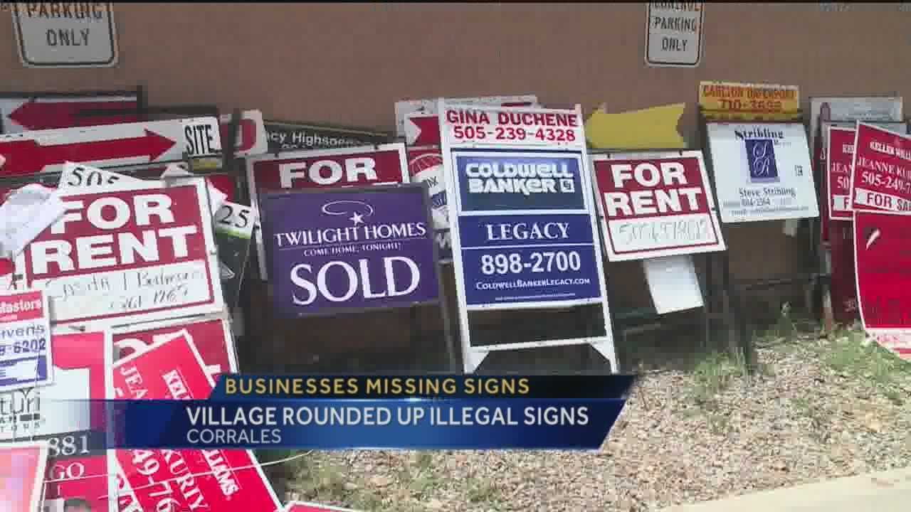Signs for small businesses have disappeared in Corrales.