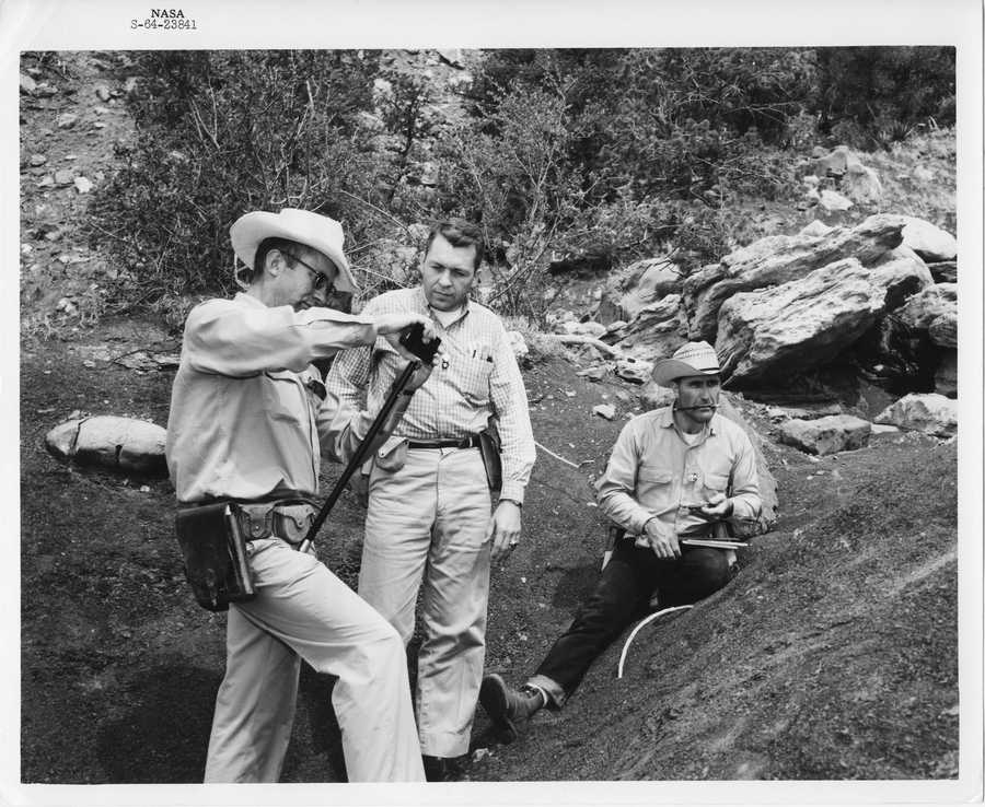 These photos show a group of 20 astronauts at Philmont Scout Ranch (near Cimarron, NM) during the June 1964 field trip.
