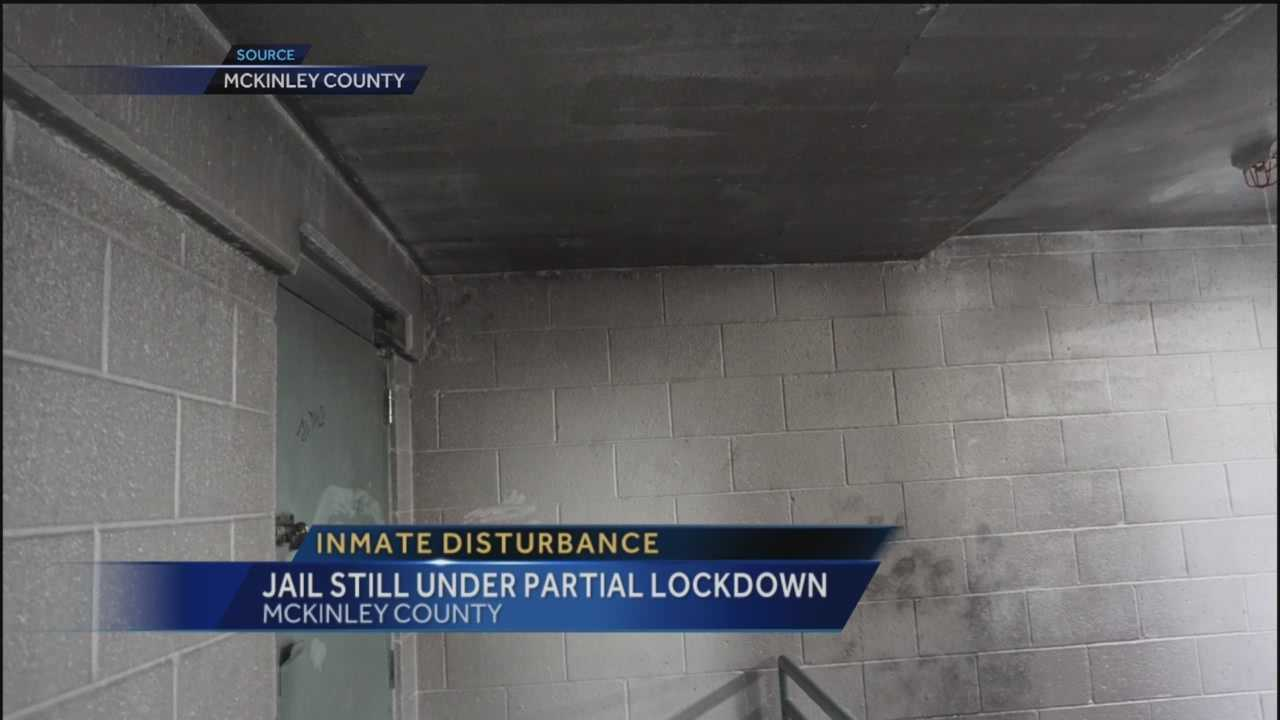 New pictures show the damage caused during a disturbance at the McKinley County Detention Center Thursday when inmates set fire to their housing pod.