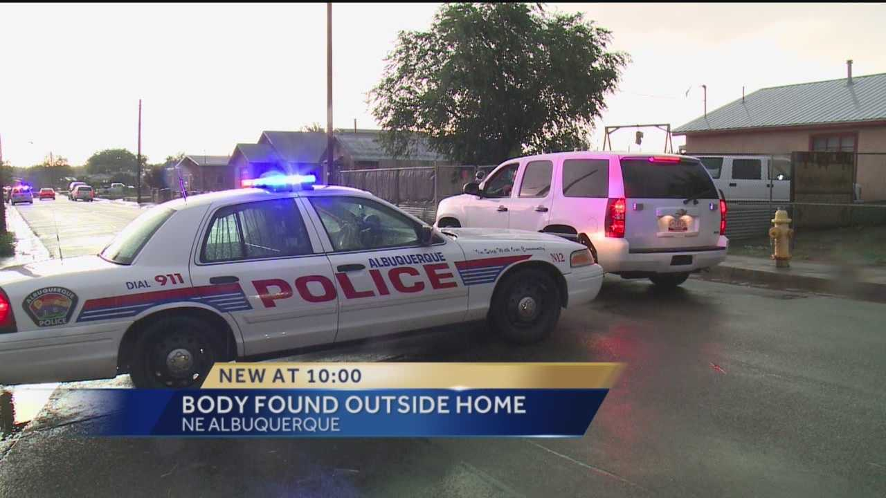 Police hope Sunday's rain storm doesn't impact their investigation after a man was found dead on Floral Road near Lilac Drive in northwest Albuquerque.
