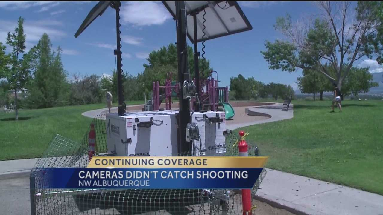 A park in southwest Albuquerque is supposed to have surveillance cameras, but they didn't pick up any footage of a deadly weekend shooting.