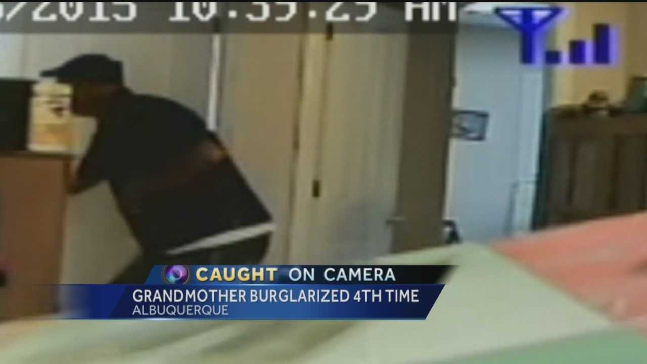 An Albuquerque grandmother has been burglarized four times in the past year, but this time she caught the thief on camera.