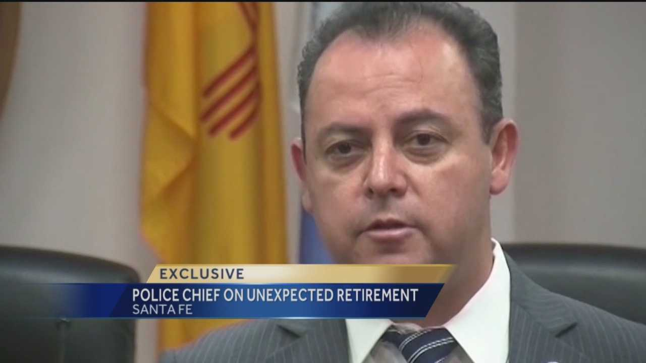 About a year on the job seems to be plenty for Santa Fe Police Chief Eric Garcia, who unexpectedly announced his retirement Tuesday morning.