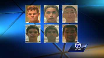 See the mug shots of the six teens accused in connection to the death of Steve Gerecke.