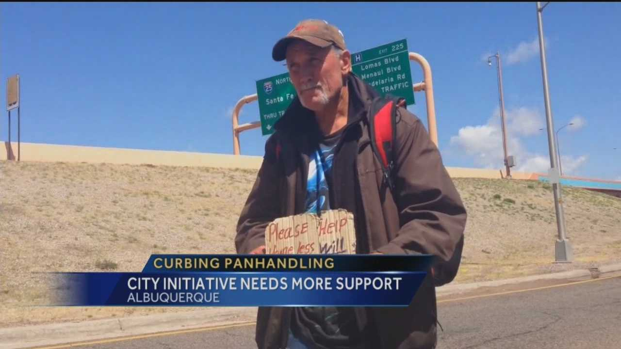 Panhandlers remain a common sight at busy intersections in Albuquerque, though Mayor Richard Berry says he's not discouraged.