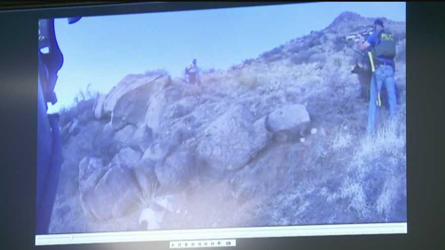 Robles also played the video of the shooting in super slow motion and in real-time.