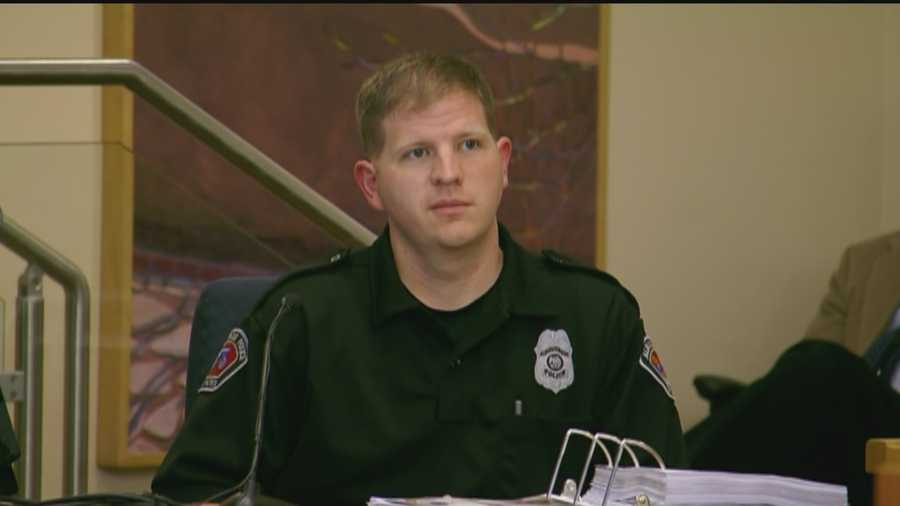 CIT Officer Brock Knipprath testifies about his knowledge of de-escalation techniques. While being cross examined, he talks about the serious nature of verbal threats.