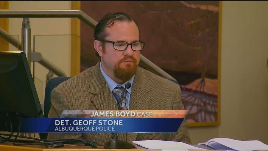 "APD detective Geoff Stone was on the stand for most of the day on Tuesday. Stone discussed the ""chain of custody"" when it came to the evidence."