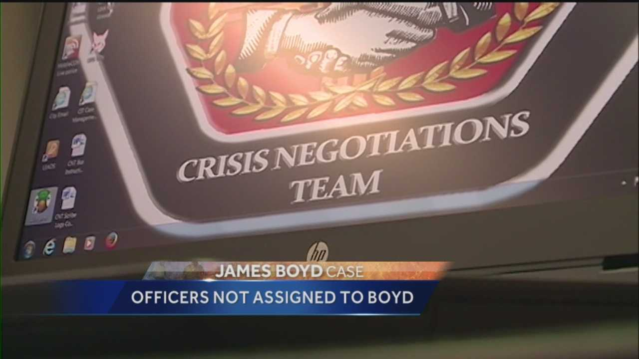 An officer said Tuesday that two other APD crisis officers who had worked with James Boyd before were not called out the scene the day of the fatal shooting in the foothills.