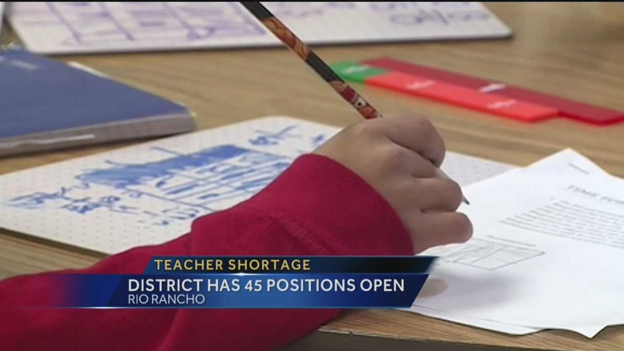 It's less than a week before school starts in Rio Rancho and the school district still needs dozens of teachers.
