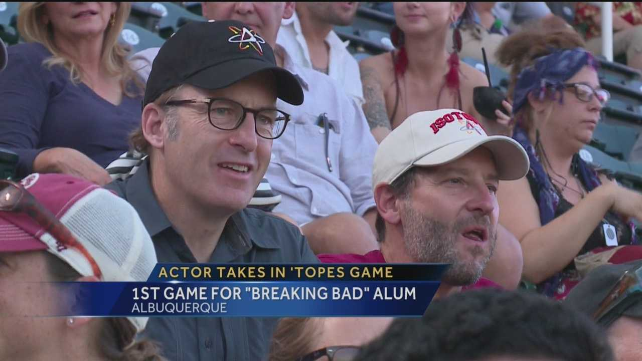 "The star of ""Better Call Saul"" took in his first Albuquerque Isotopes game Sunday."