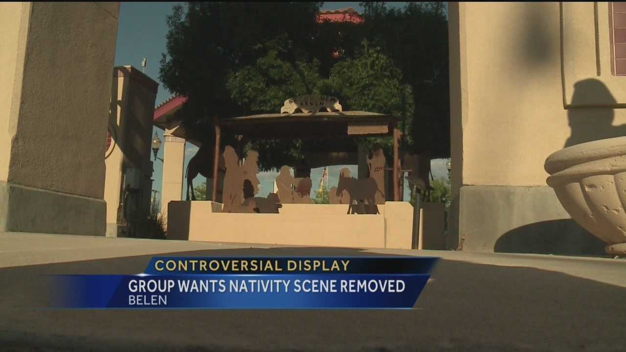 A nativity scene could land a New Mexico town in trouble.