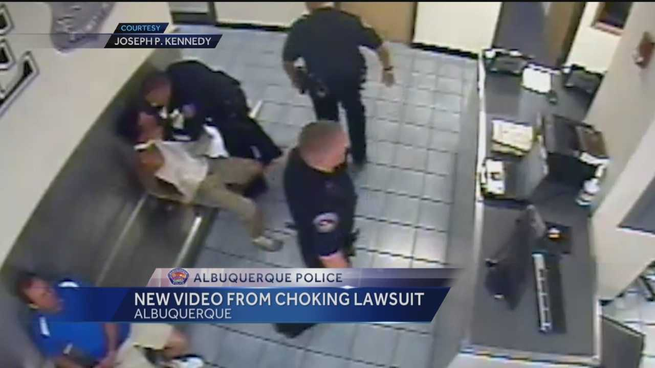 New video appears to show Albuquerque Police chocking a man after he was arrested.