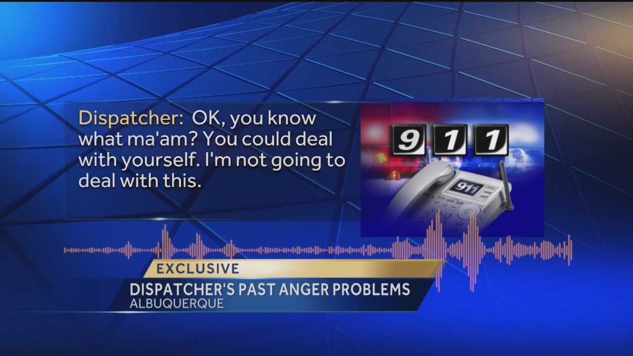 When an Albuquerque Fire Department dispatcher hung up on a 911 caller, it made national headlines. Now his personnel file shows he had lost his temper on the job before.