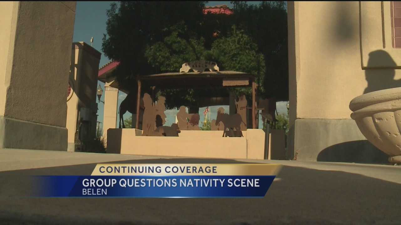 We told you last night about a fight over a nativity scene.  There could be legal action to get it removed because it's a religious symbol on city property.