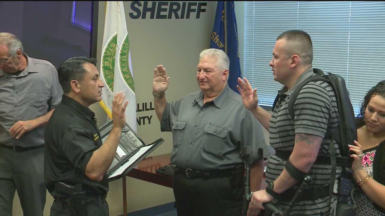 Jeremy Romero was sworn in as a Bernalillo County Sheriff's reserve deputy Friday morning.