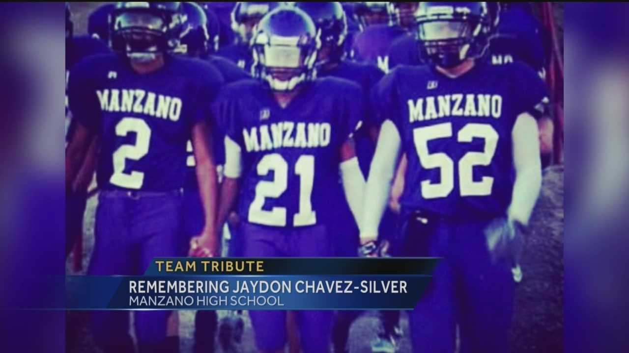 Manzano High School Football Team Honors Jaydon Chavez-Silver
