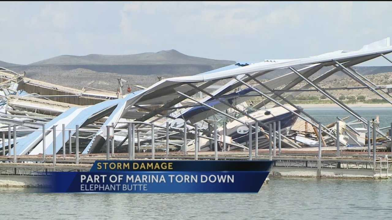 The small, calm town of Elephant Butte was shaken up when a storm took down part of the Marina Del Sur this week.