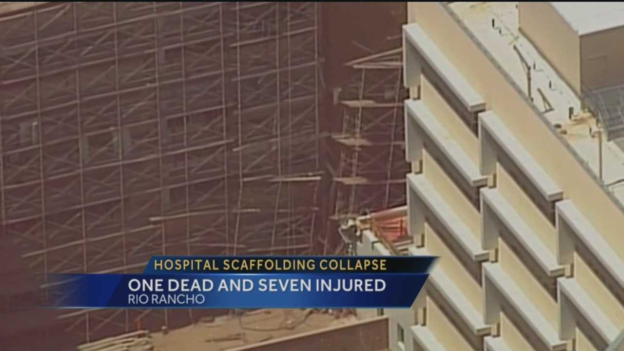 One person is dead after a five-story scaffolding collapse at the Presbyterian Rust Medical Center on Tuesday, according to Rio Rancho Fire Rescue.