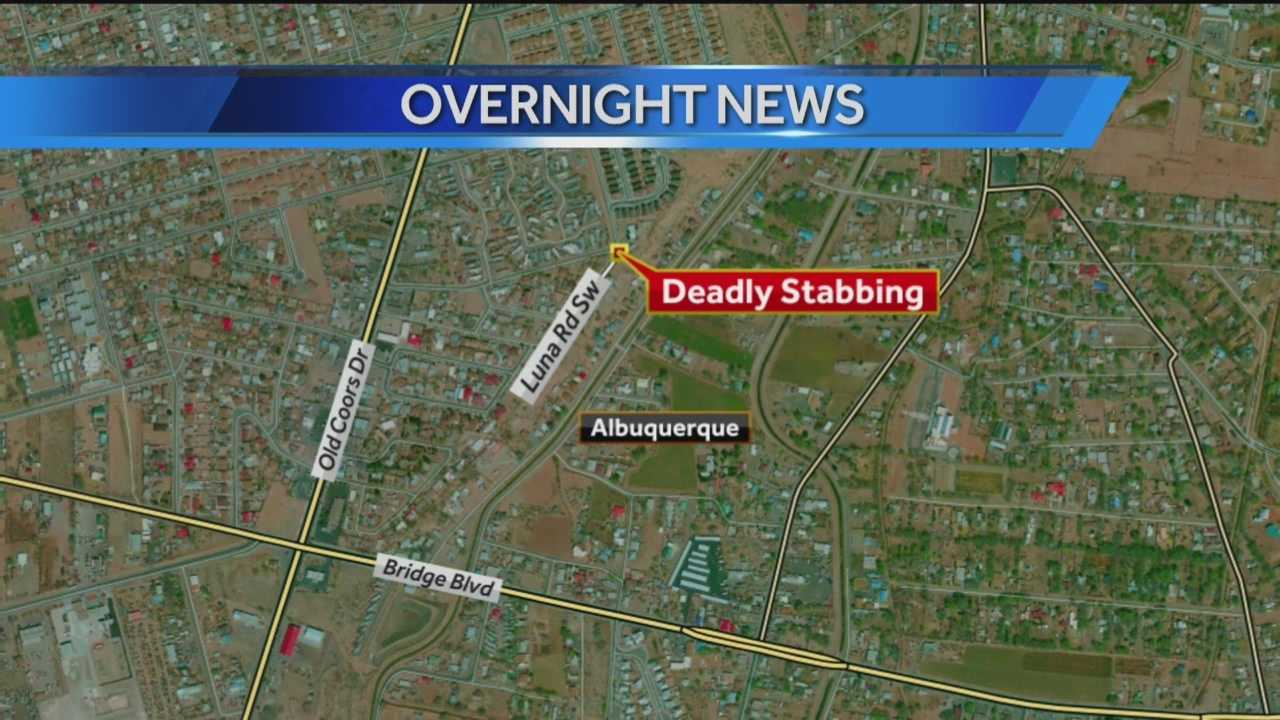 A man was stabbed to death late Tuesday night.