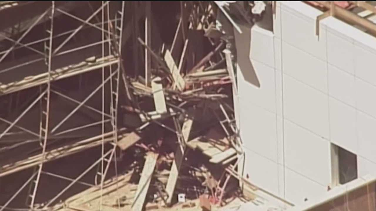 Two investigators from OSHA combed through debris Wednesday, at the scene of a fatal hospital construction accident in Rio Rancho.