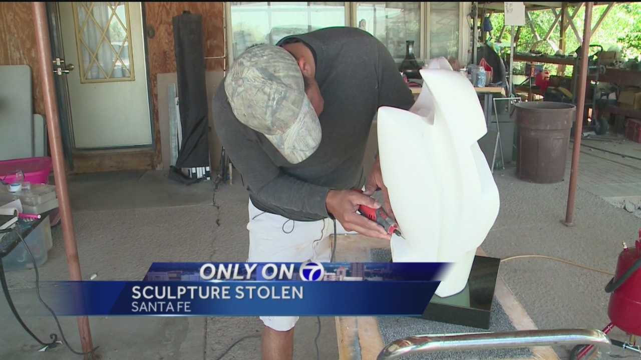 A Jemez Pueblo artist is down one sculpture, but not because he sold it.