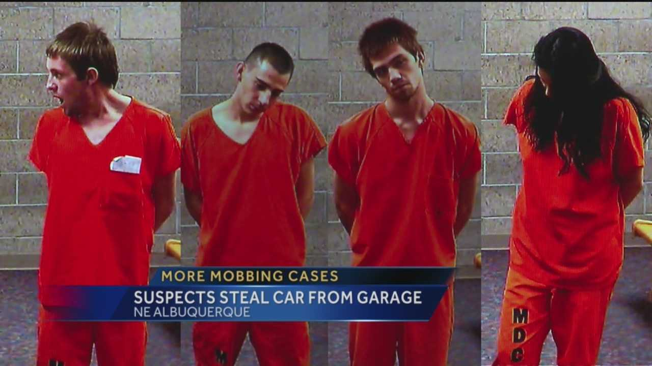 Police say four people stole a man's car right out of his garage.