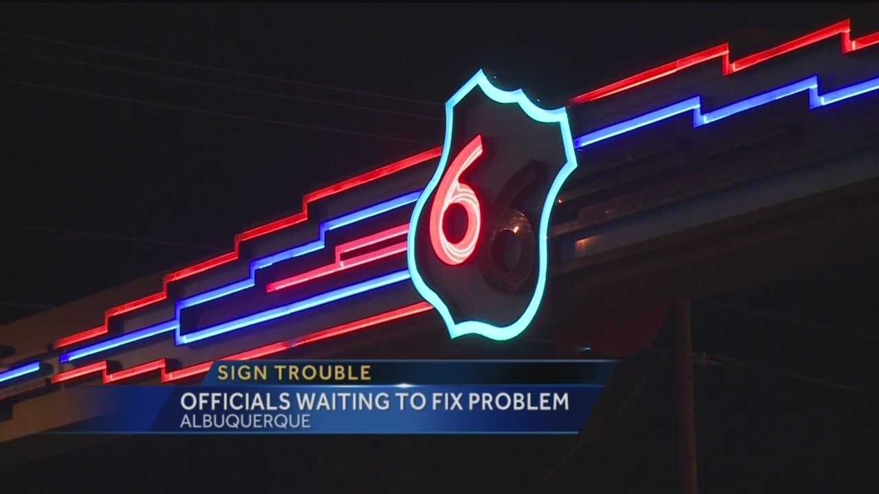 So say it is a sad sight, lights out, in one of Albuquerque's most iconic signs.