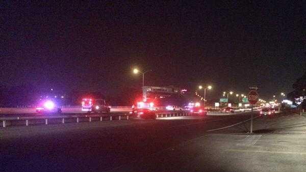 A photo of Sunday night's Interstate 25 closure.