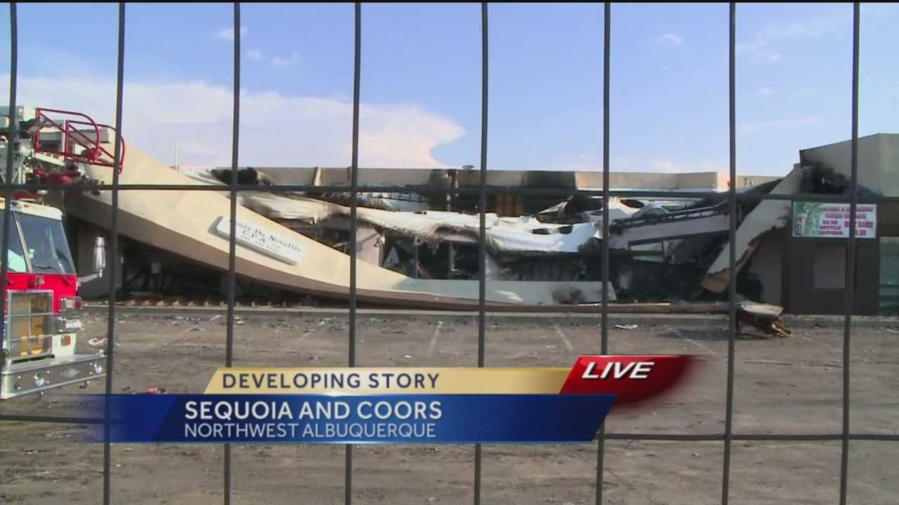 At least two businesses were destroyed after flames rip through a northwest Albuquerque strip mall.
