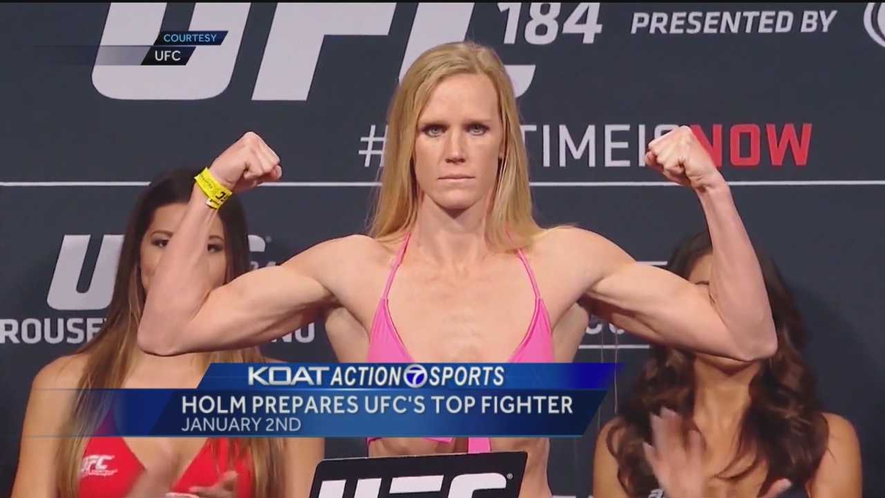 Albuquerque's Holly Holm is back in New Mexico training for the biggest fight of her career.