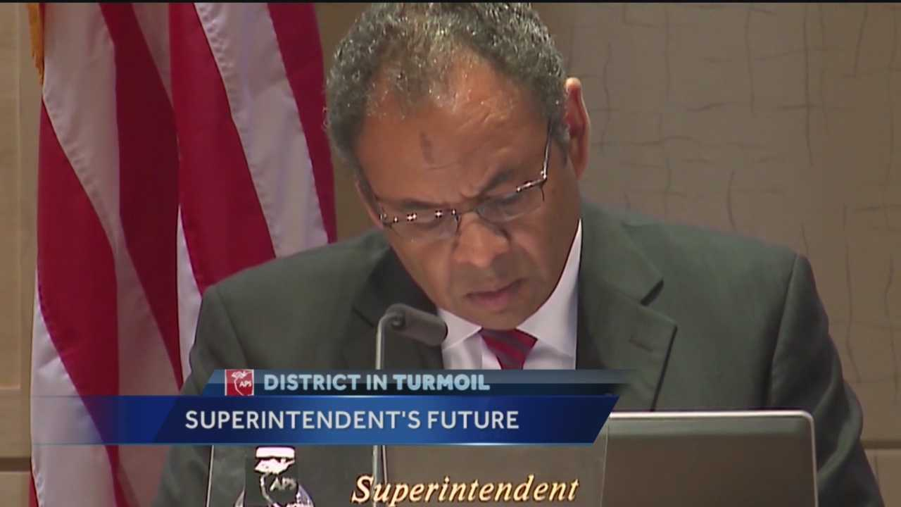 APS Board Meeting On Superintendent Luis Valentino