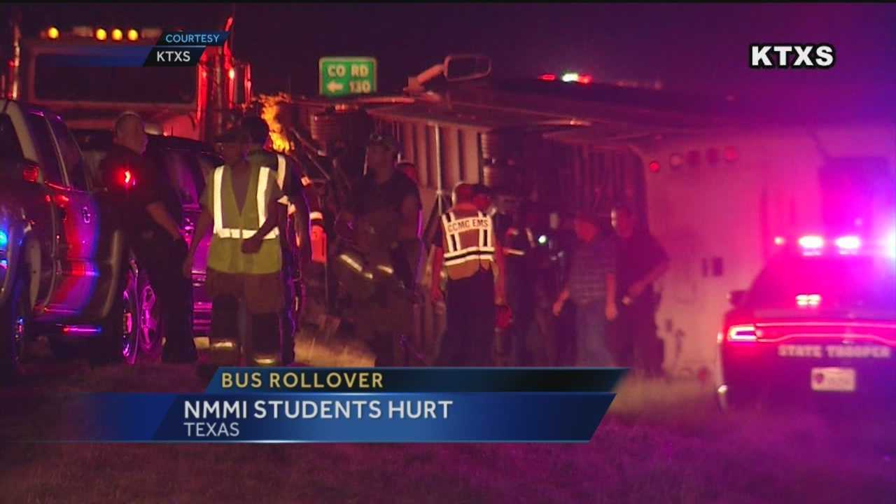 Nearly a dozen students from the New Mexico Military Institute were hurt in a bus crash this weekend.