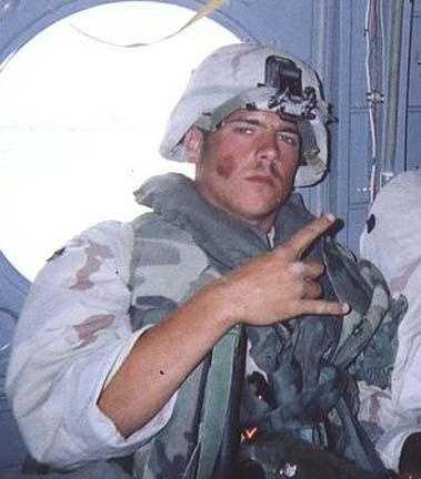 Marine Lance Cpl. Aaron Austin died on April 26, 2004.