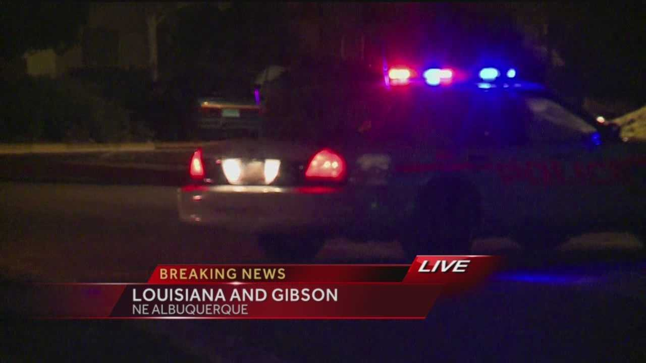 Officers say a man was shot at an apartment complex near Louisiana and Gibson.