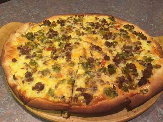 Green Chile Breakfast Pizza by u local user Kgriego. CLICK HERE for the recipe
