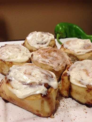Green Chile Cinnamon Rolls by u local user Vestismy. CLICK HERE for the recipe