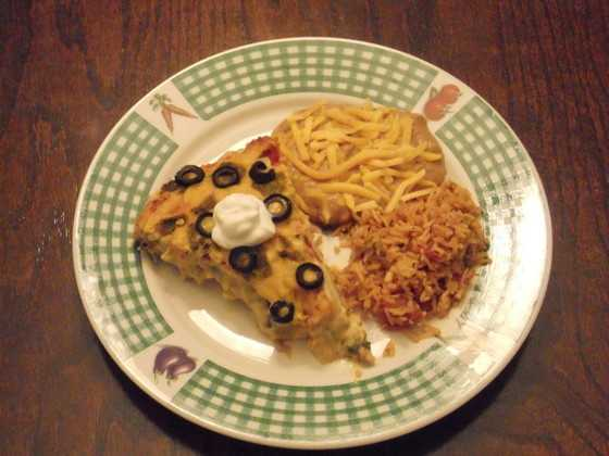 Green Chile Enchilada Pie by u local user Dorydyer. CLICK HERE for the recipe.
