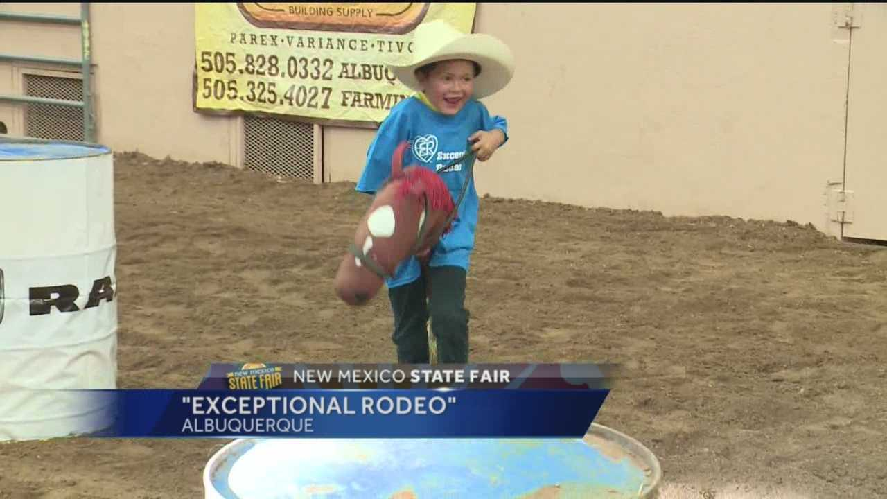 The New Mexico State Fair is always a good time for children, but an event Tuesday afternoon was one of a kind.