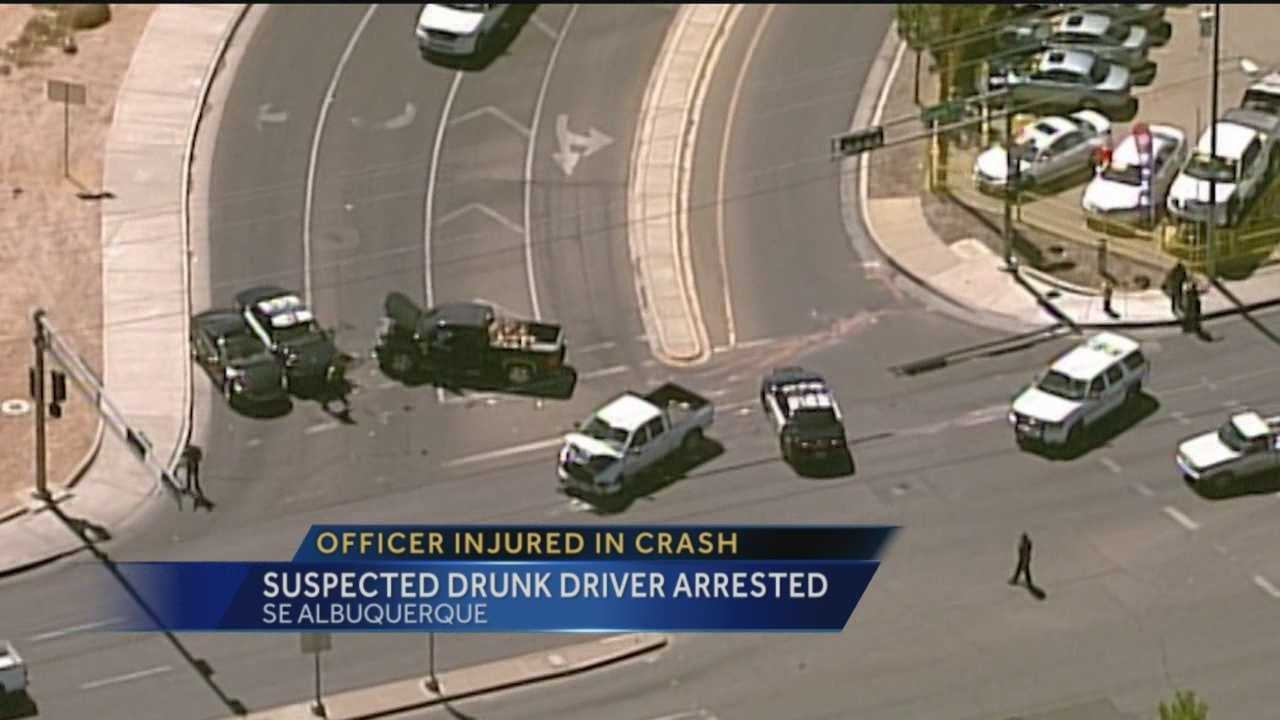 At least four vehicles, including one Albuquerque police car, were involved in a serious crash near Central and Zuni on Thursday afternoon.