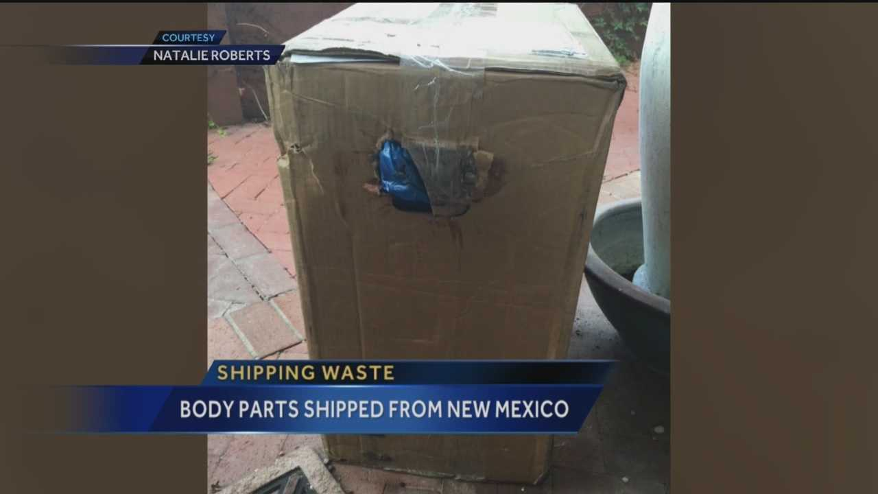 It's a story that has shocked a lot of people -- a bloody box seeping medical waste that was wrongfully shipped to an Albuquerque family's home.