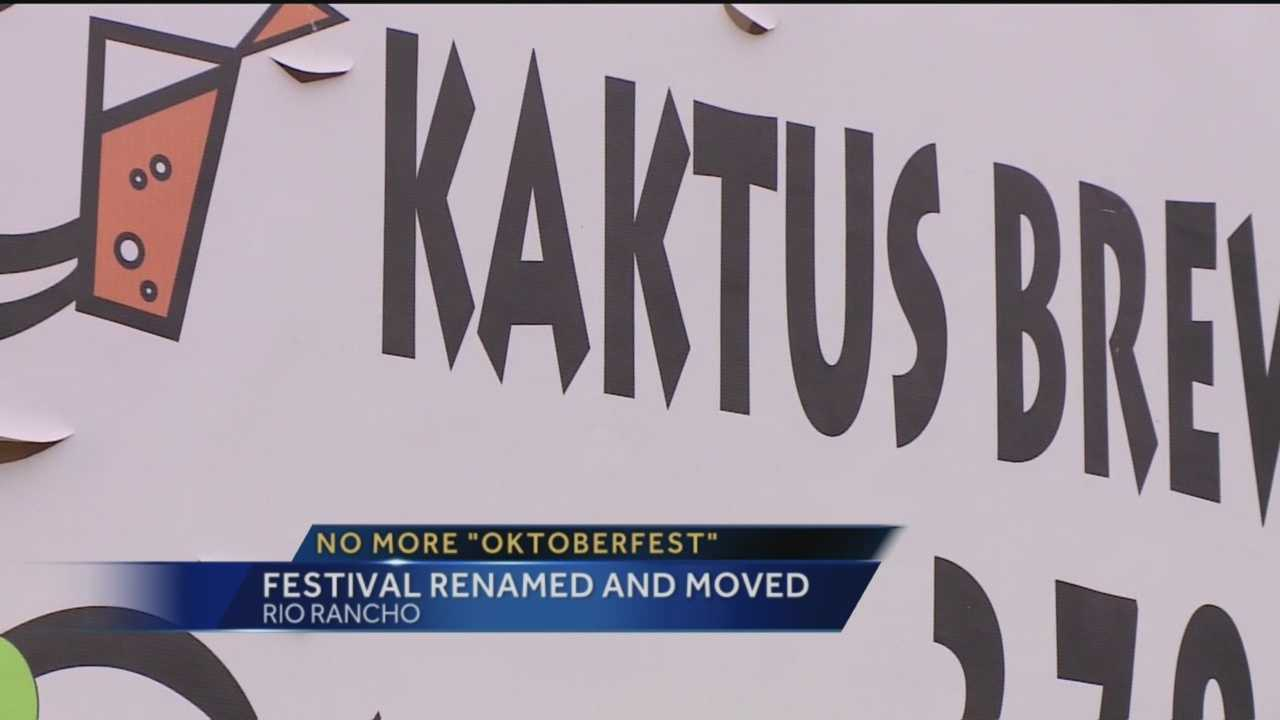 Oktoberfest in Rio Rancho has a new name and will be held at a new location.