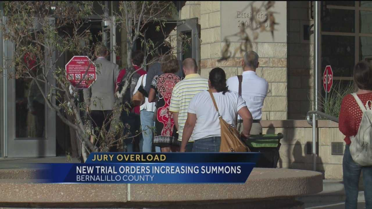 Hundreds more jurors than usual packed the Bernalillo County District courthouse today. Action 7 News reporter Matt Howerton explains what led to the surge, and how it's supposed to help a huge backlog of cases.