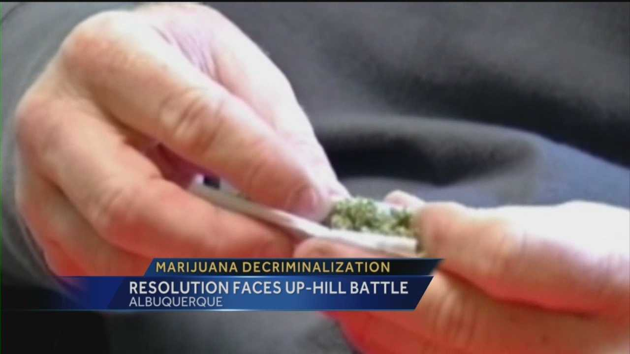 A push to decriminalize small amounts of marijuana in Albuquerque does not appear to have much of a chance of becoming law.